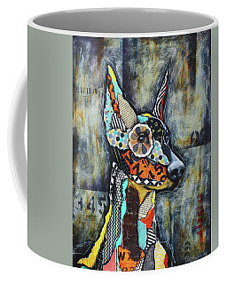 Doberman Pinscher Coffee Mug by Patricia Lintner