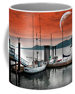 Dock And The Moon Coffee Mug