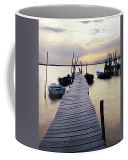 Dock At Sunset Coffee Mug
