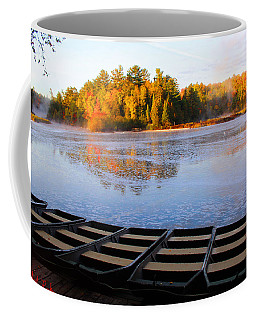 Coffee Mug featuring the photograph Dock Of The Tahquamenon River by Michael Rucker