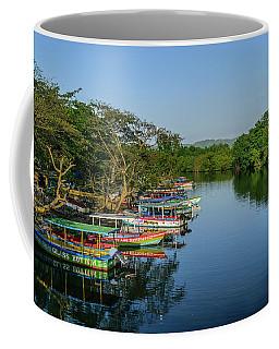Boats By The River Coffee Mug