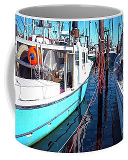 Coffee Mug featuring the photograph Docked In Barnegat Bay by John Rizzuto