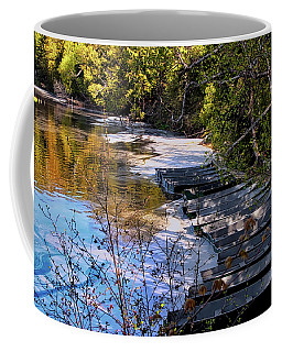 Docked Row Boats Coffee Mug