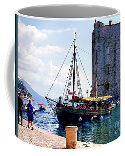 Docking In Dubrovnik Harbour Coffee Mug