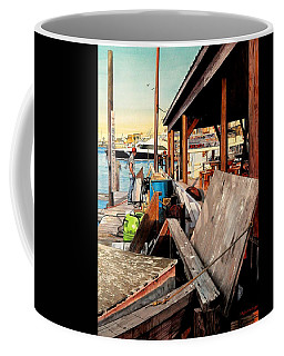 Docks At Port Aransas Coffee Mug