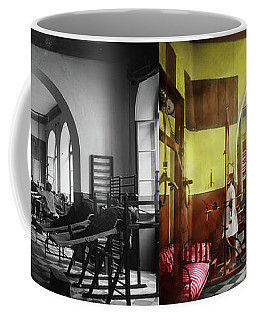 Coffee Mug featuring the photograph Doctor - Physical Therapist - Welcome To The A Traction 1918 - Side By Side by Mike Savad