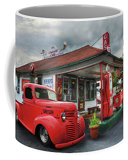 Coffee Mug featuring the photograph Dodge At Cruisers by Lori Deiter