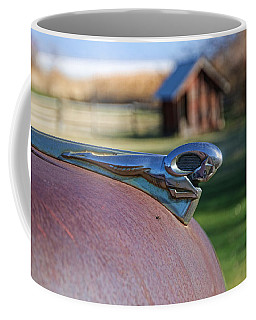 Coffee Mug featuring the photograph Dodge Emblem by Ely Arsha