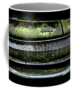 Coffee Mug featuring the photograph Dodge Green Grin by Glenda Wright