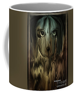 Dog Art  Sad Eyes Coffee Mug