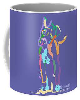 Coffee Mug featuring the painting Dog Cookie by Go Van Kampen