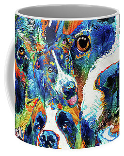 Coffee Mug featuring the painting Dog Lovers Delight - Sharon Cummings by Sharon Cummings