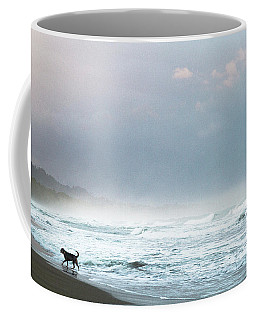 Dog On A Costa Rica Beach Coffee Mug