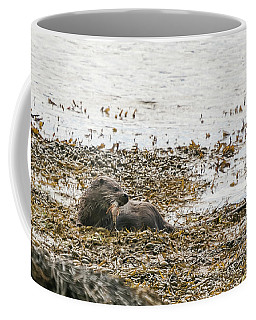 Dog Otter With Lunch Coffee Mug