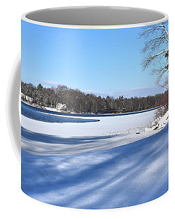 Dog Pond In Winter 1 Coffee Mug