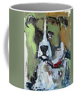 Coffee Mug featuring the painting Dog Portrait by Robert Joyner