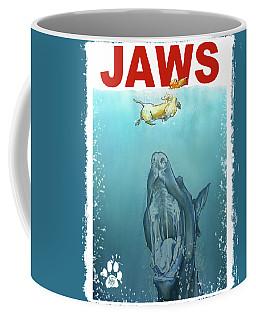 Dog-themed Jaws Caricature Art Print Coffee Mug