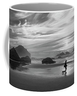 Dog Walker Bw Coffee Mug