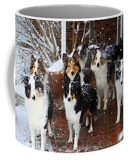 Dogs During Snowmageddon Coffee Mug