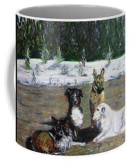 Dogs Having A Meeting Coffee Mug