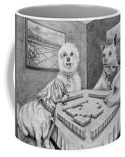 Dogs Playing Mahjong Coffee Mug