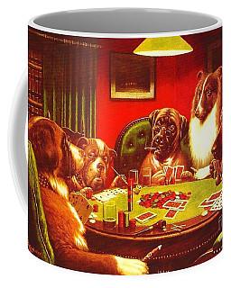 Dogs Playing Poker Coffee Mug