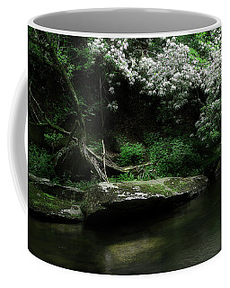 Rhododendron Along The River Coffee Mug
