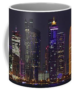 Doha Towers At Night Coffee Mug