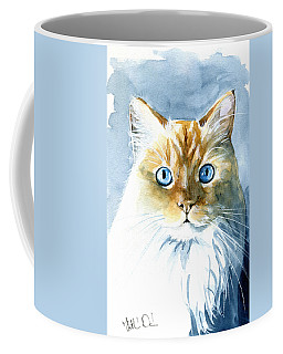 Doll Face Flame Point Himalayan Cat Painting Coffee Mug