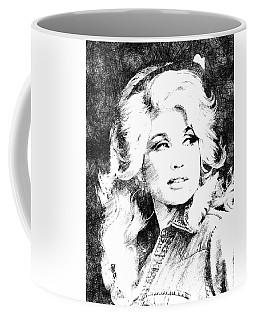 Dolly Parton Bw Portrait Coffee Mug