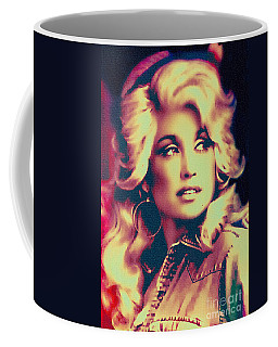 Dolly Parton - Vintage Painting Coffee Mug