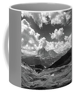 Dolomites Black And White Coffee Mug