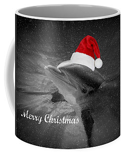 Dolphin Christmas Coffee Mug