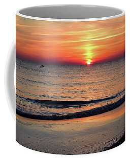 Coffee Mug featuring the photograph Dolphin Jumping In The Sunrise by Nicole Lloyd