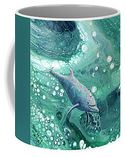 Coffee Mug featuring the painting Dolphin Magic by Darice Machel McGuire