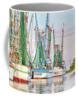 Dolphin Tail - Docked Shrimp Boats Coffee Mug