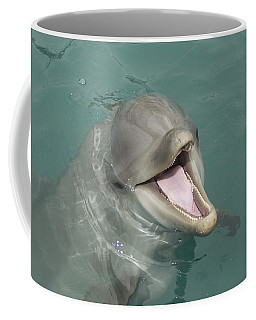Coffee Mug featuring the painting Dolphin by Sean M