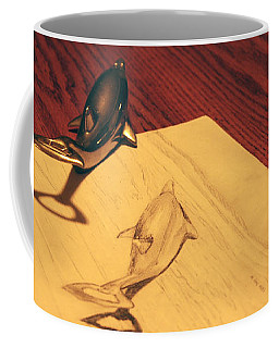 Coffee Mug featuring the photograph Dolphins by T Brian Jones