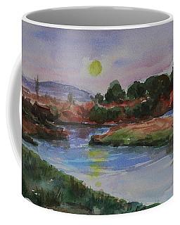 Coffee Mug featuring the painting Don Edwards San Francisco Bay National Wildlife Refuge Landscape 1 by Xueling Zou