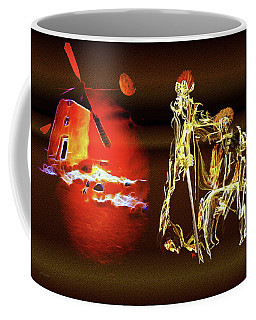 Coffee Mug featuring the painting Don Quixote And Sancho Panza by Valerie Anne Kelly