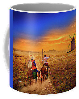 Don Quixote And The Windmills Coffee Mug