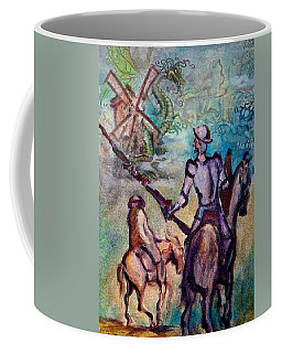 Don Quixote With Dragon Coffee Mug
