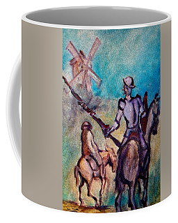 Don Quixote With Windmill Coffee Mug