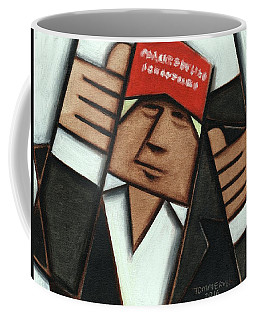 Tommervik Donald Trump Red Hat Thumbs Up Art Print Coffee Mug