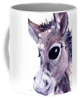 Coffee Mug featuring the painting Donkey by Dawn Derman