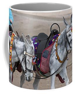 Donkeys On Blackpool Beach Coffee Mug
