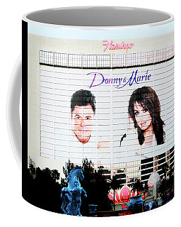 Donny And Marie Osmond Large Ad On Hotel Coffee Mug