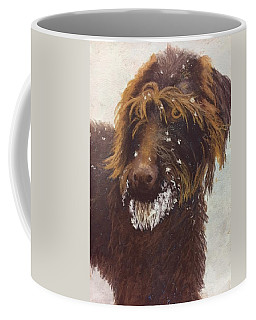 Coffee Mug featuring the painting Don't Eat The Snow by Nancy Jolley