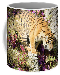 Coffee Mug featuring the painting Don't Jump by Judy Kay