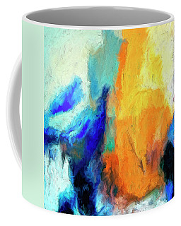 Coffee Mug featuring the painting Don't Look Down by Dominic Piperata